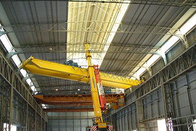 Montaggio carroponti e installazione linee vita su carroponti